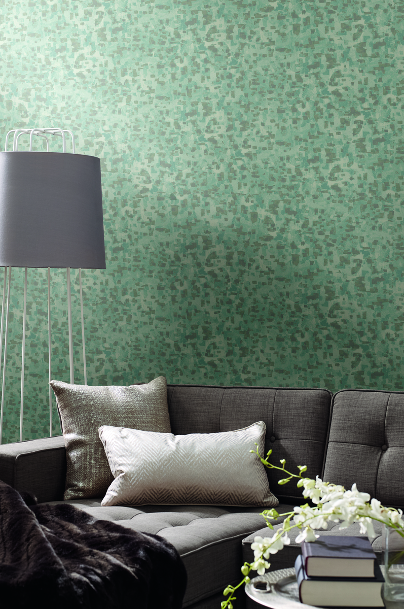 York SO2478 Candice Olson Tranquil Sumi-E Brushstrokes Wallpaper Spa Blue