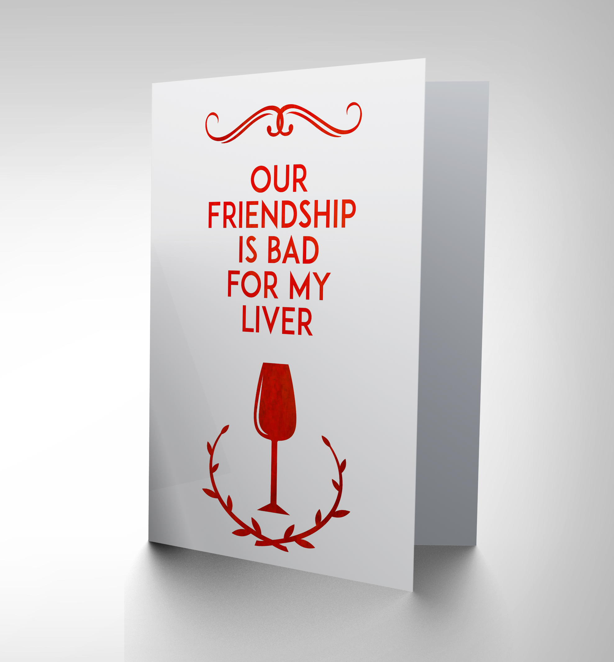 NEW FRIEND WINE BAD LIVER FUNNY ART GREETINGS GREETING CARD GIFT CP1573