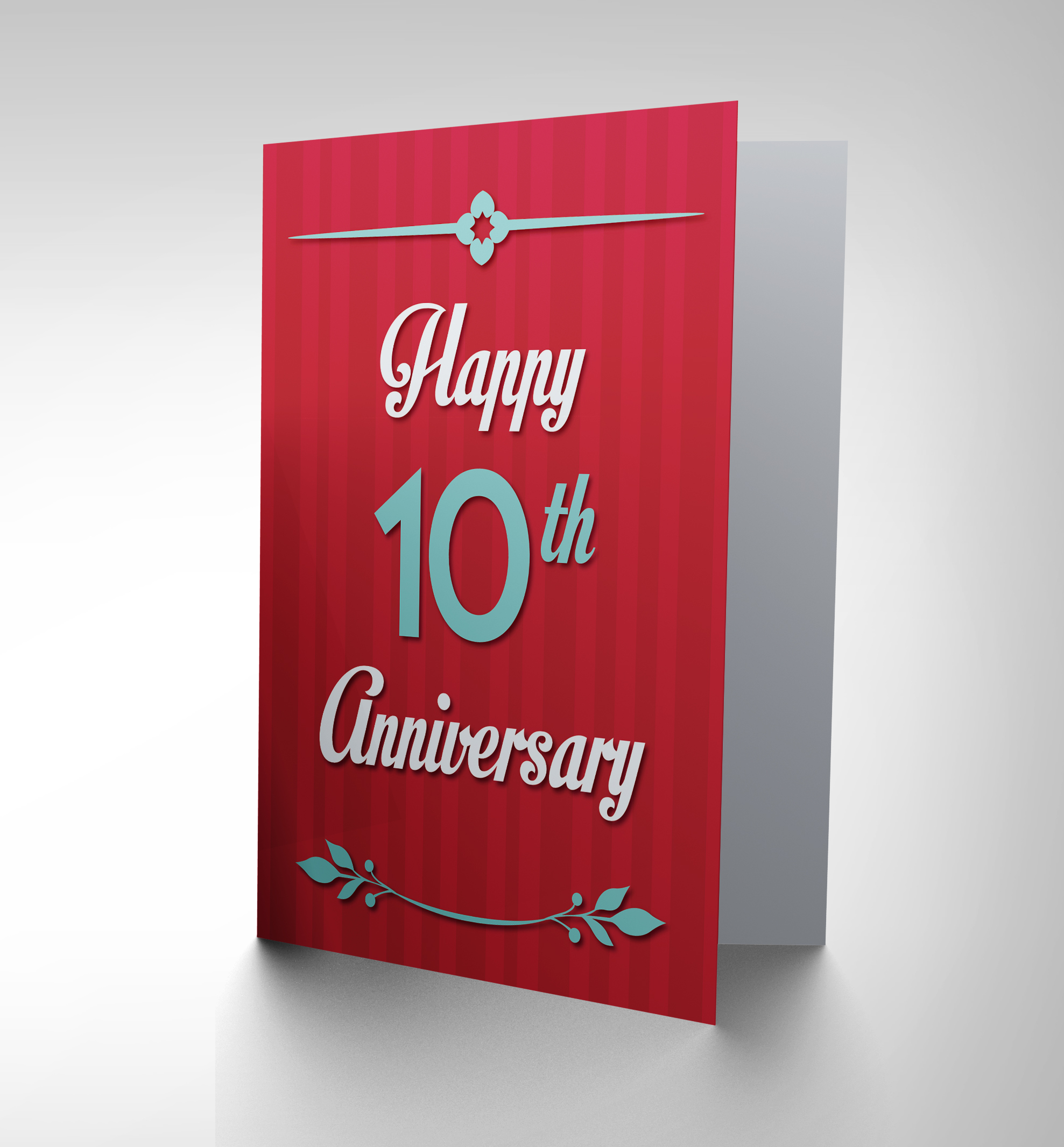 Anniversary happy th tenth new art greetings gift card