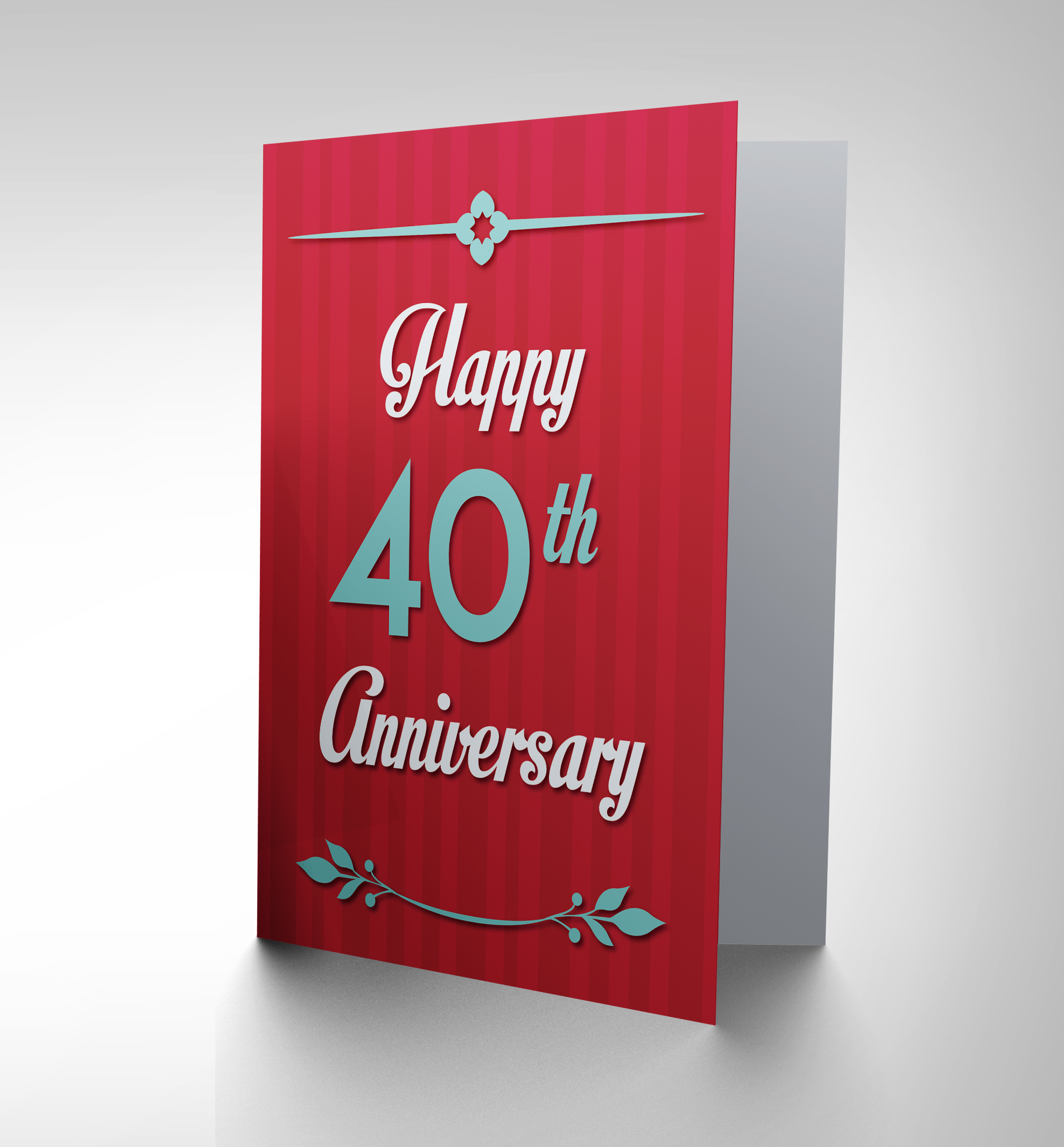 Anniversary happy th fortieth new art greetings gift