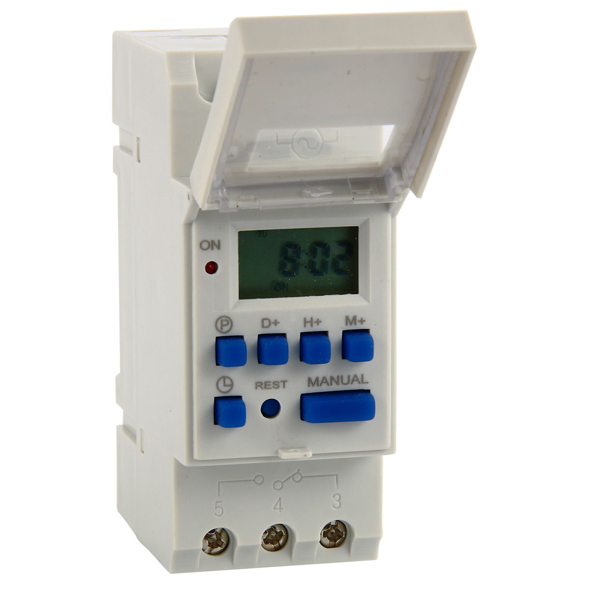 Digital Power Timer : Ac v digital lcd power programmable din timer time