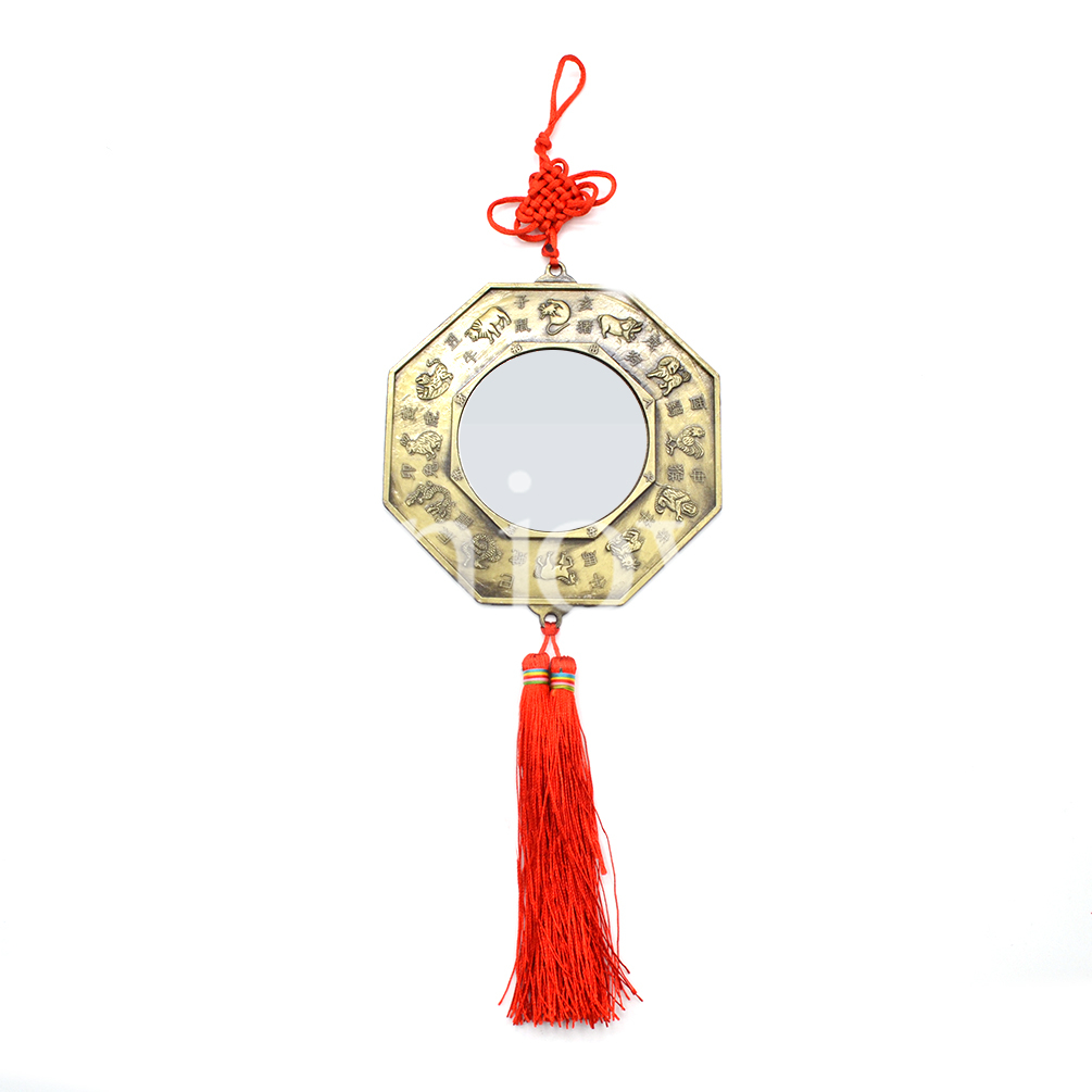 Chinese feng shui chinese knot bagua mirror home car for Chinese feng shui house