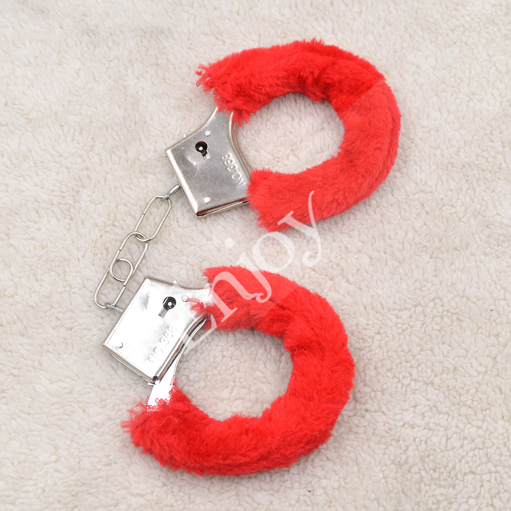 1 Pair Fuzzy Soft Metal Handcuffs Adults Hen Night Party Novelty Toys Fun Sexy