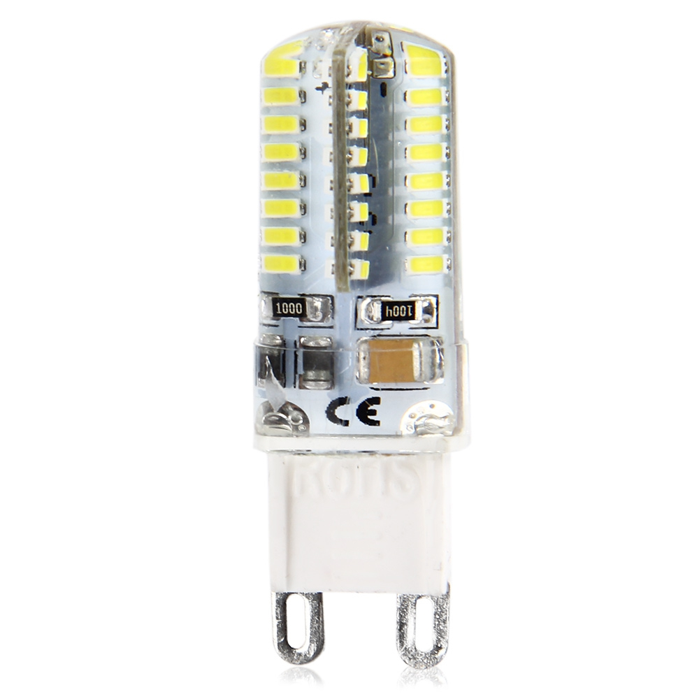 5pcs g9 base 64 led lamp bulb smd 3014 6w ac 220v light 360 degrees beam angle ebay. Black Bedroom Furniture Sets. Home Design Ideas