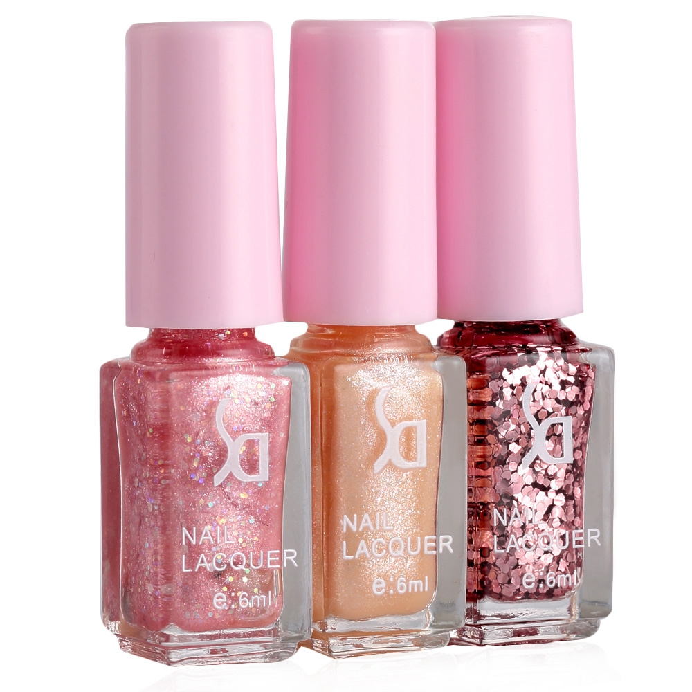 Candy Color Nail Polish: Fashion Magic Candy 3 Colors Gradient Nontoxic Gel Nail