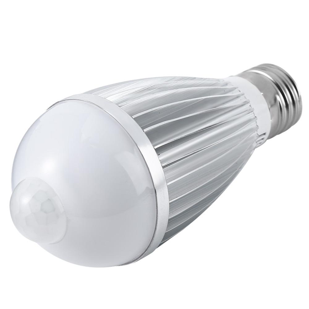 7w E27 Led Pir Motion Sensor Auto Lamp Bulb Infrared Energy Saving Light Ebay