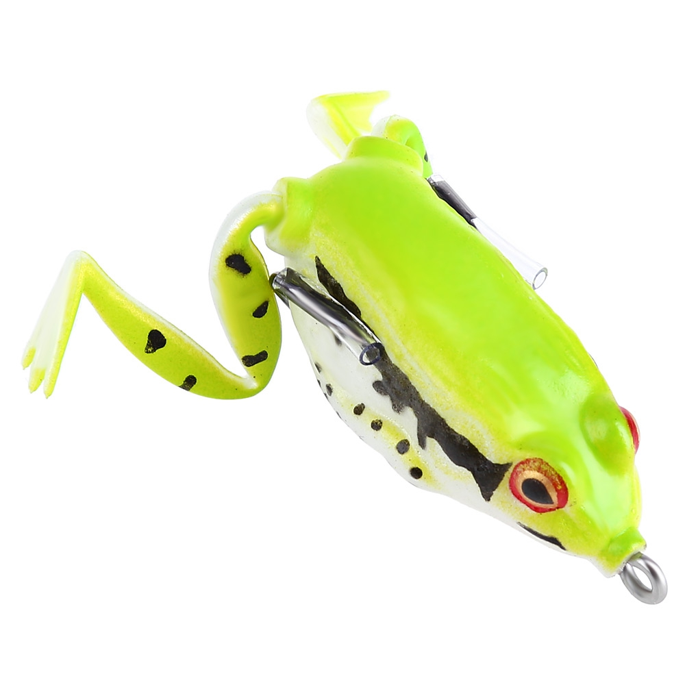 Life like plastic freshwater ray frog fishing lure hooks for Frogs for fishing