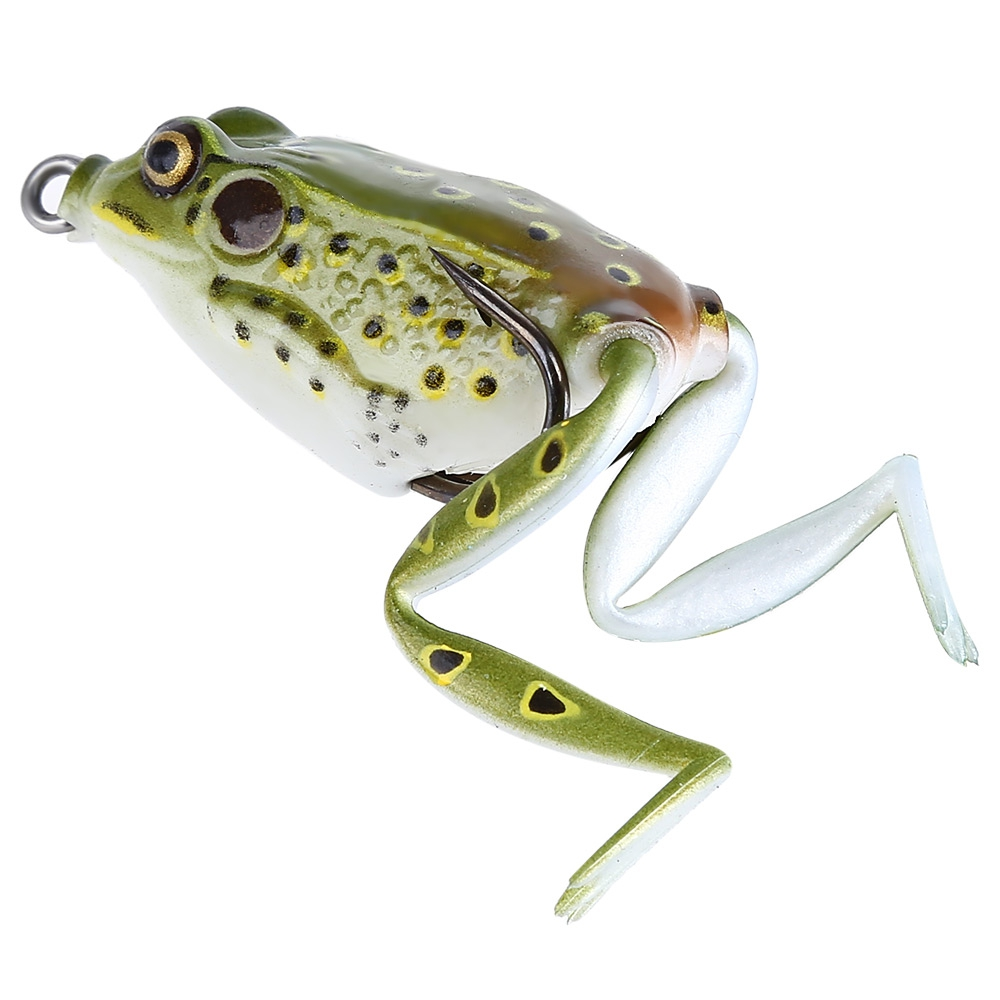 Life like plastic freshwater ray frog fishing lure hooks for Frog lures for bass fishing
