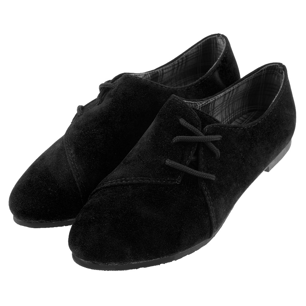fashion womens suede casual shoes slip on flats loafers