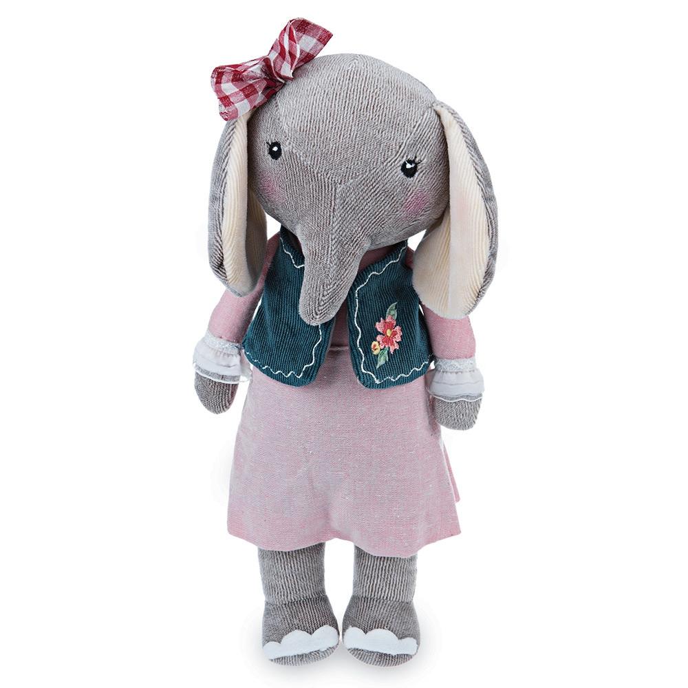 Elephant Stuffed Toy : Cute soft stuffed cartoon elephant design babies plush toy