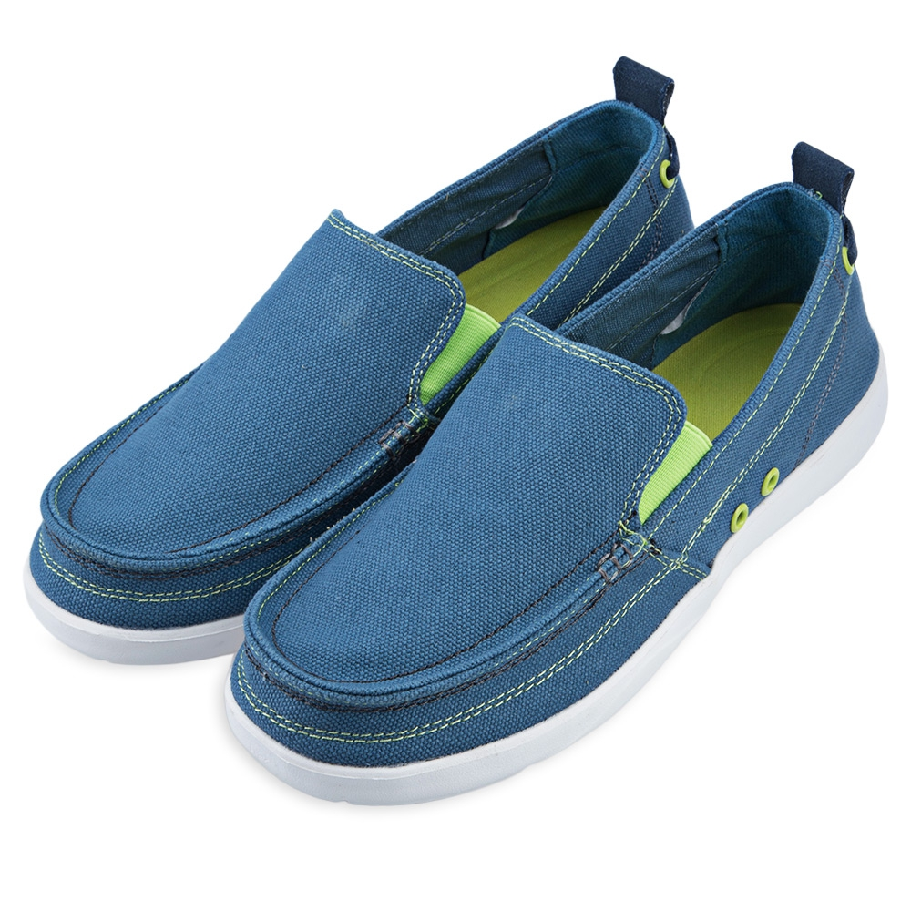 fashion mens canvas slip on loafers moccasin casual flats
