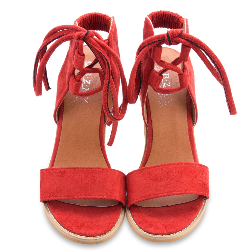 Perfect WOMENS LACE UP BLOCK HEEL SANDALS SHOES SZ 38  EBay
