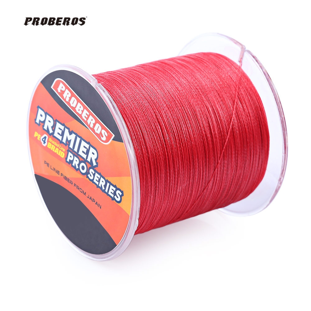 Proberos 500m 6lb 80lb braided fishing line pe 4 strands 5 for Braid fishing line