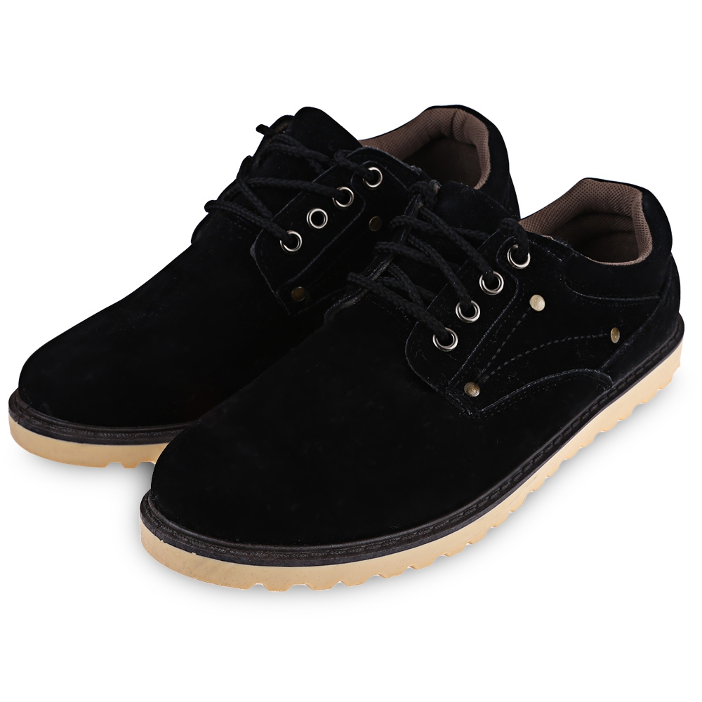 Suede European Style Leather Shoes Mens