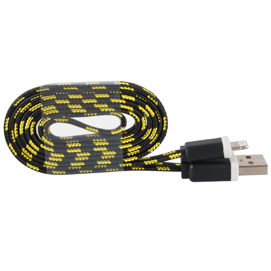 braided usb charger cable data sync cord for iphone 6 iphone 6s plus iphone 5 5c ebay. Black Bedroom Furniture Sets. Home Design Ideas