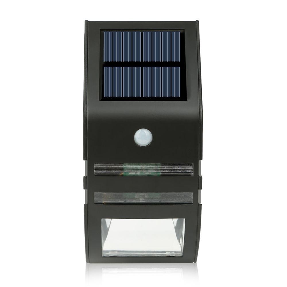 solar powered led light pir motion sensor stainless steel. Black Bedroom Furniture Sets. Home Design Ideas