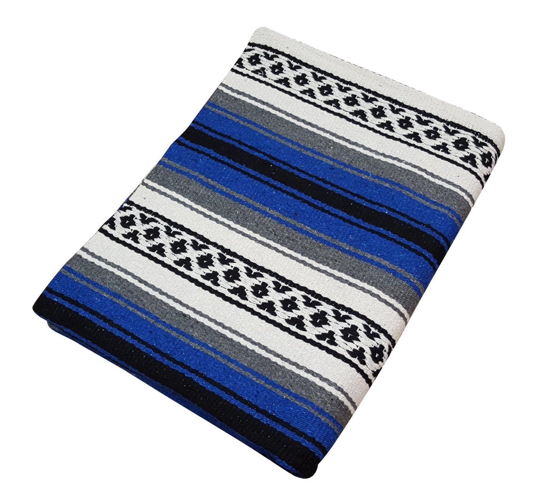 Mexican Rug History: Classic Mexican Falsa Heavyweight Yoga/Throw Blanket, 57 X