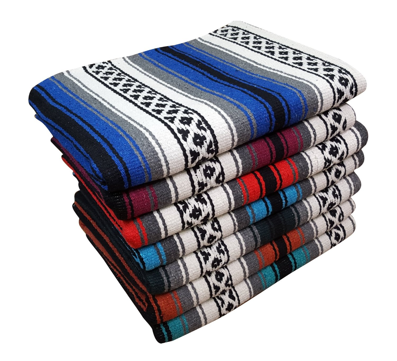 Classic Mexican Falsa Heavyweight Yoga/Throw Blanket, 57 X