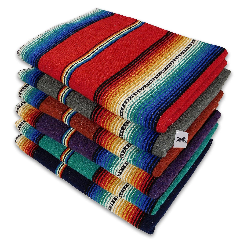 El Paso Designs Classic Mexican Serape Falsa Blanket, 57 X