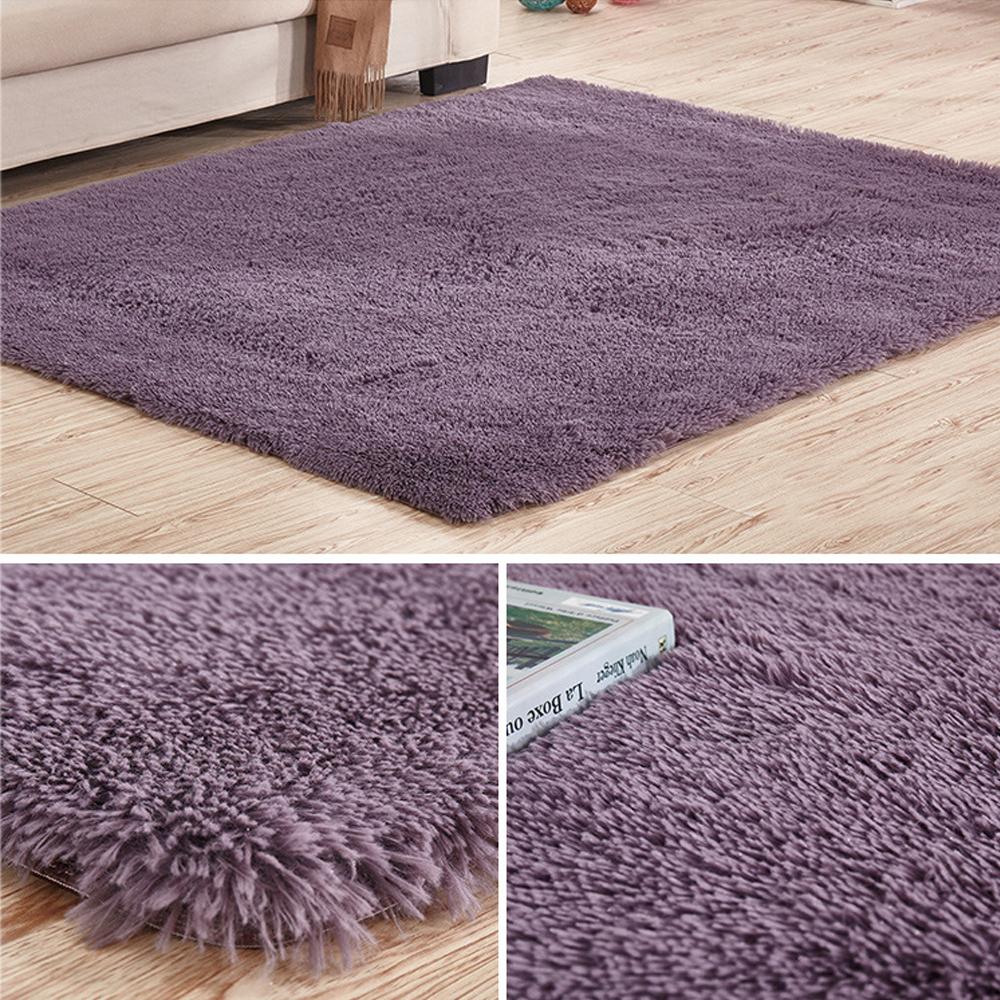 Soft Tufted Microfiber Bathroom Home Mat Rug Non-Slip Back