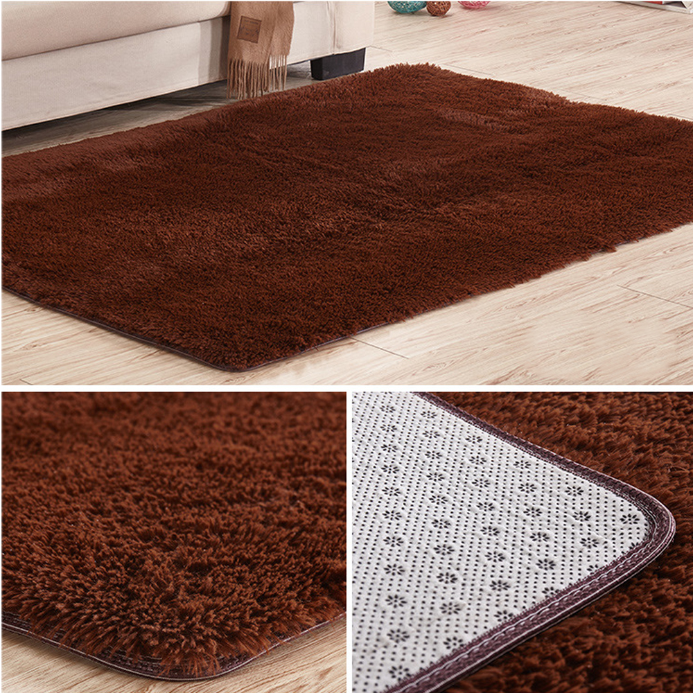 Soft Tufted Microfiber Bathroom Home Mat Rug Non-Slip Back