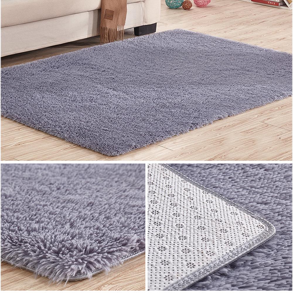 Soft Tufted Microfiber Bathroom Home Mat Rug Non Slip Back