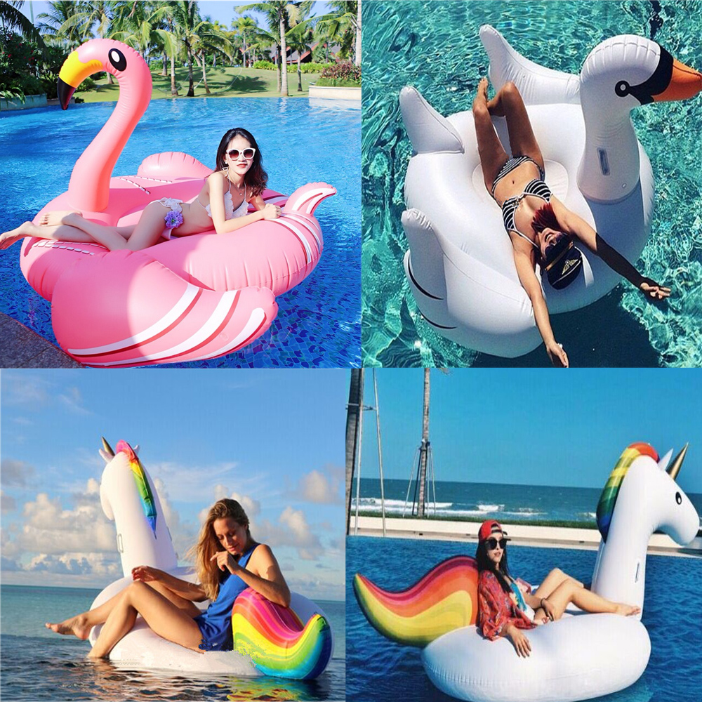 Giant Inflatable Unicorn Swan Flamingo Pool Float Water