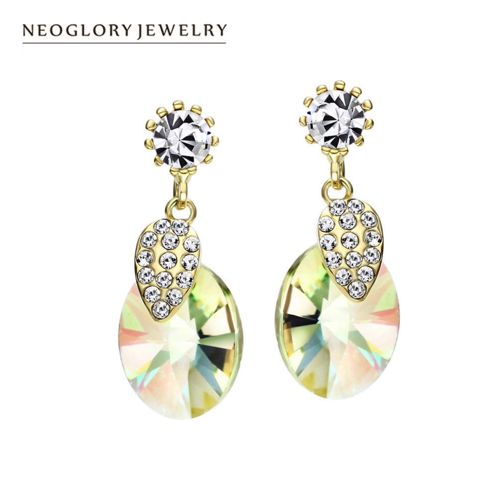 neoglory swarovski crystal new drop earrings charm wedding