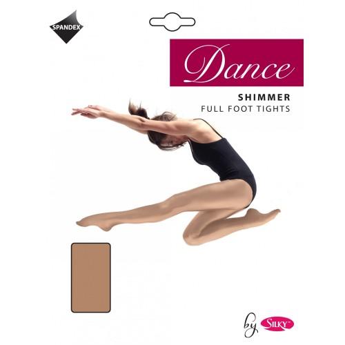 Free-PnP-Silky-Womens-Ladies-Dance-Shimmer-Full-Foot-Tights-1-Pair