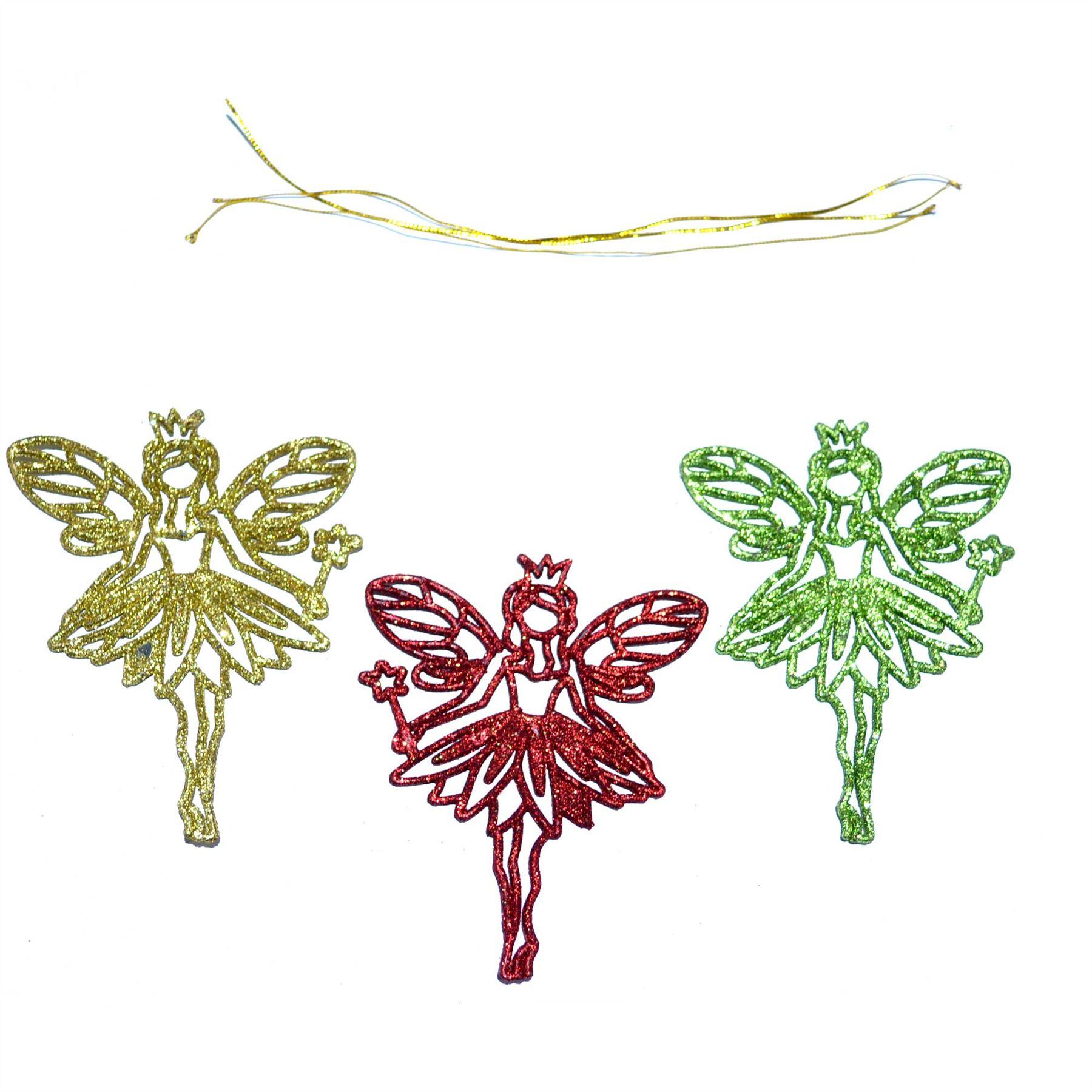 3pcs glitter christmas tree decoration xmas hanging ornament decor ebay. Black Bedroom Furniture Sets. Home Design Ideas