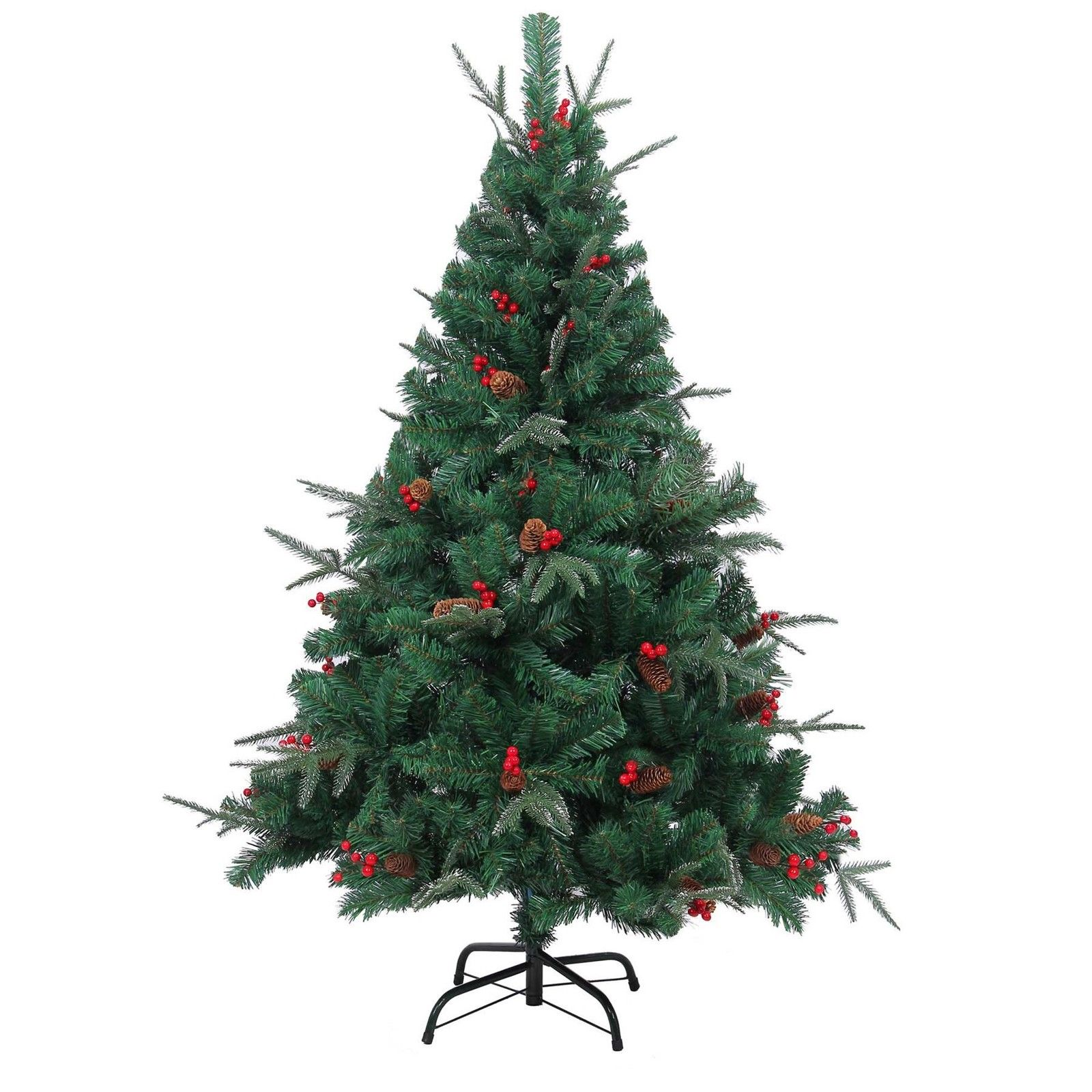 5ft 6ft 7ft deluxe pre decorated artificial christmas