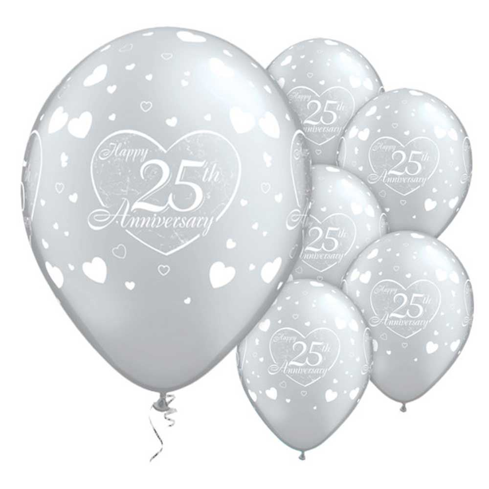 25th 40th 50th wedding anniversary balloons party With 25th wedding anniversary balloons decorations