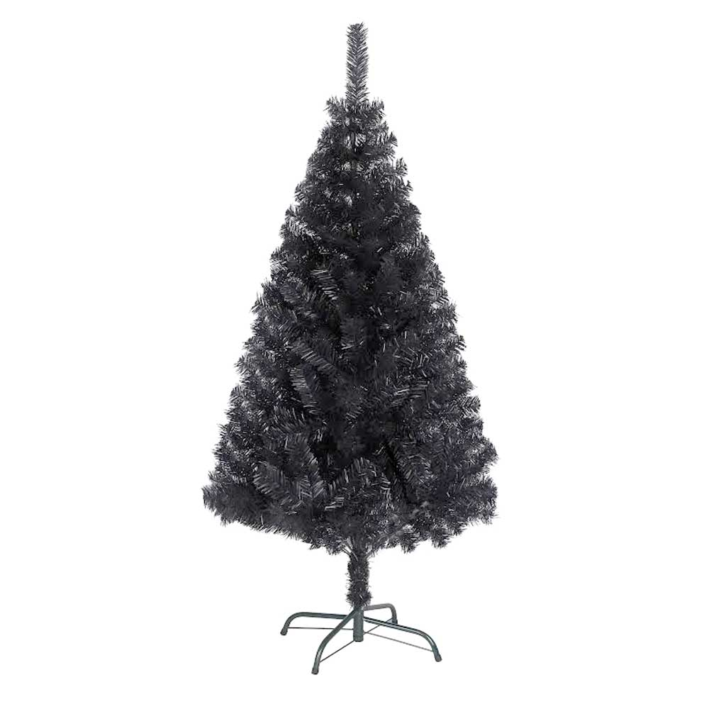 Bushy Quality Black Artificial Christmas Tree With Metal
