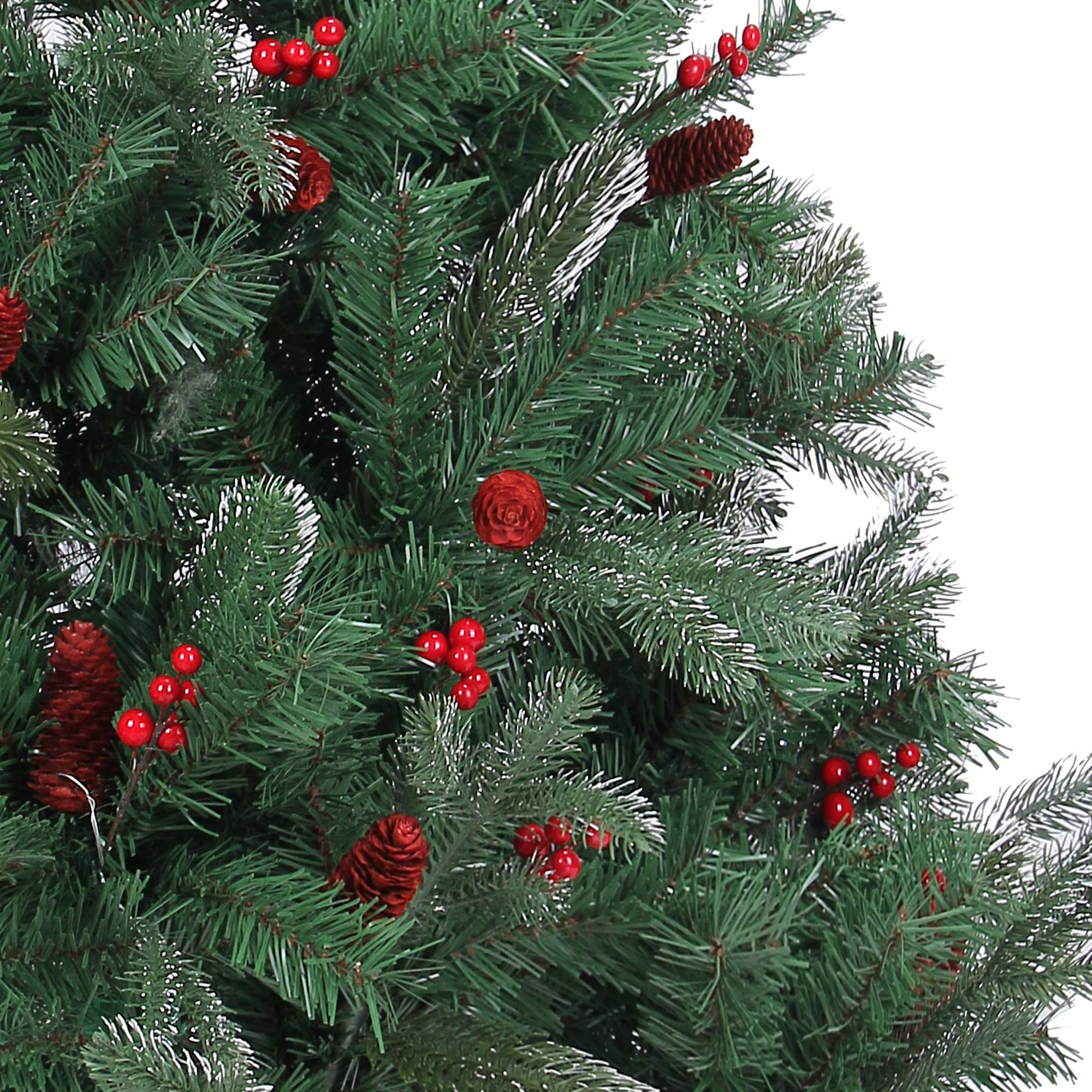 Naturally Decorated Elegant Christmas Tree Frosted Tips Red Pine