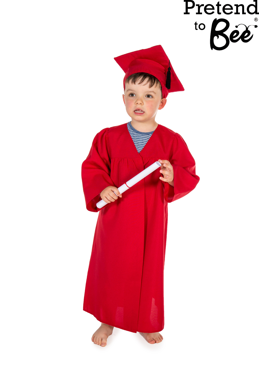 Childrens Kids Boys Girls Graduation Gown Cloak u0026 Cap Hat Fancy Dress Costume | eBay