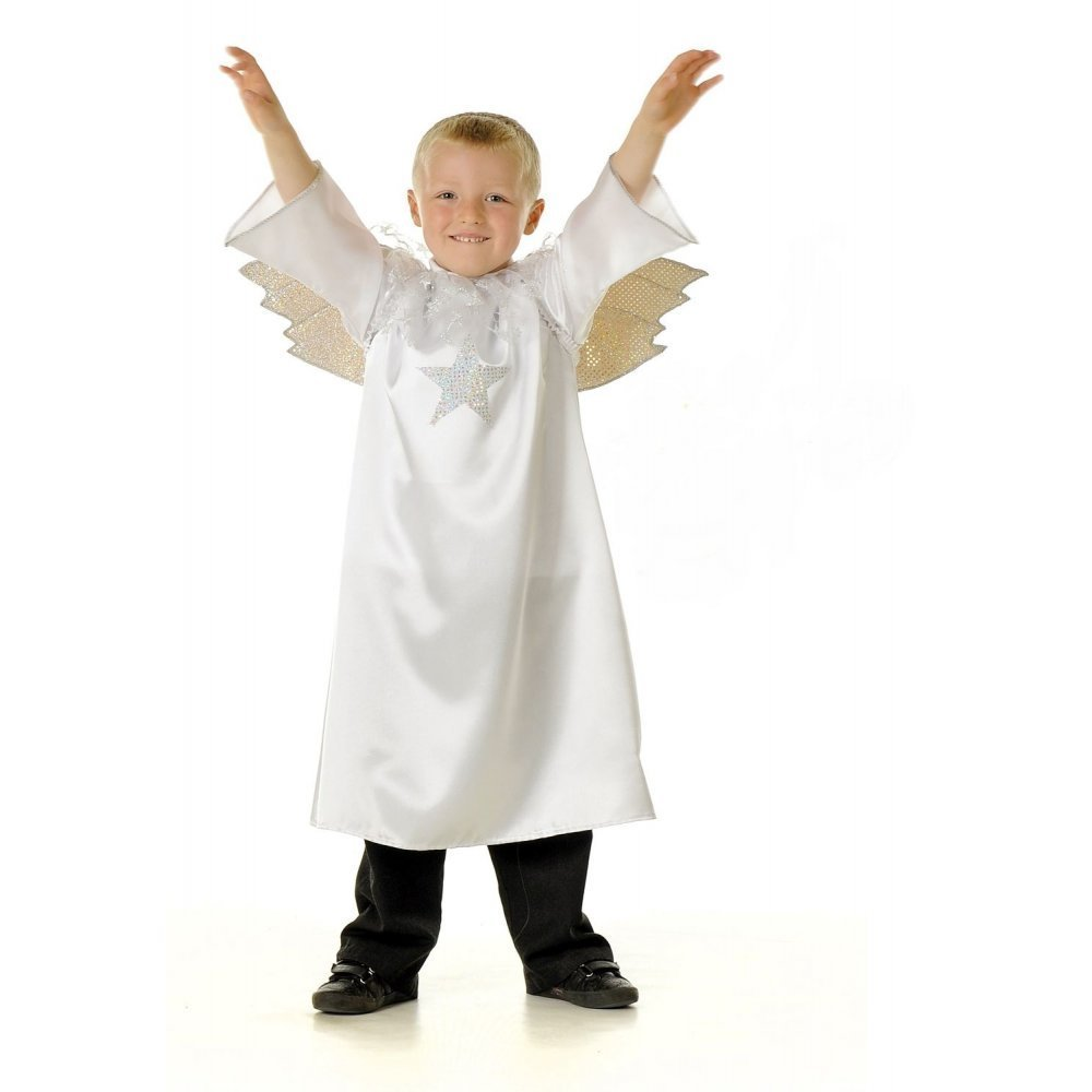 Childrens kids boys girls nativity angel christmas wings