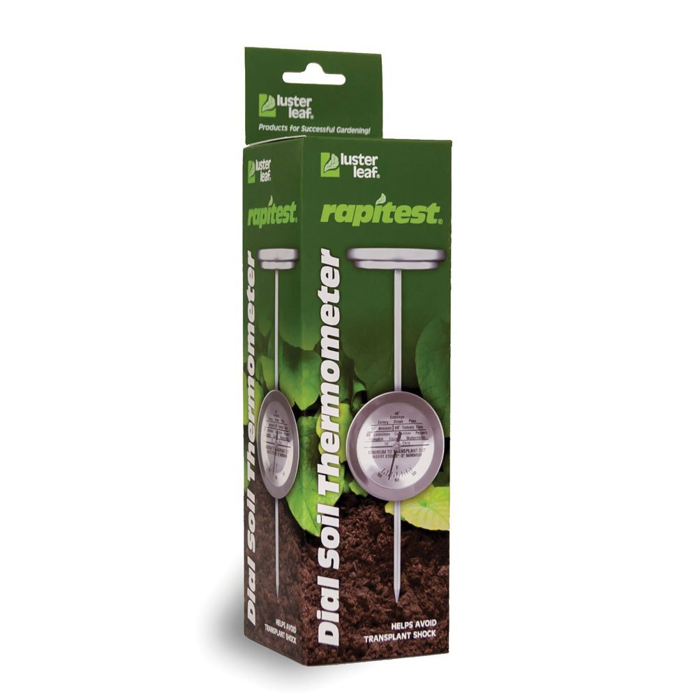 Luster leaf 1630 rapitest stainless steel dial soil for Soil thermometer