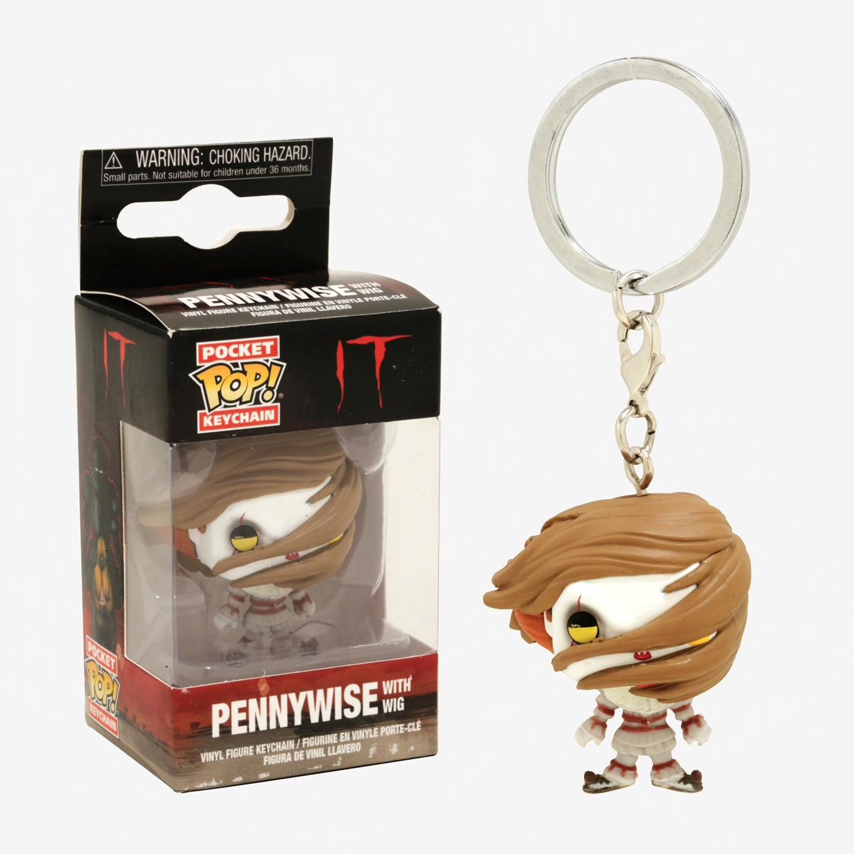 Funko Pocket Pop Keychain IT Pennywise with Wig Vinyl Figure Keychain #31810