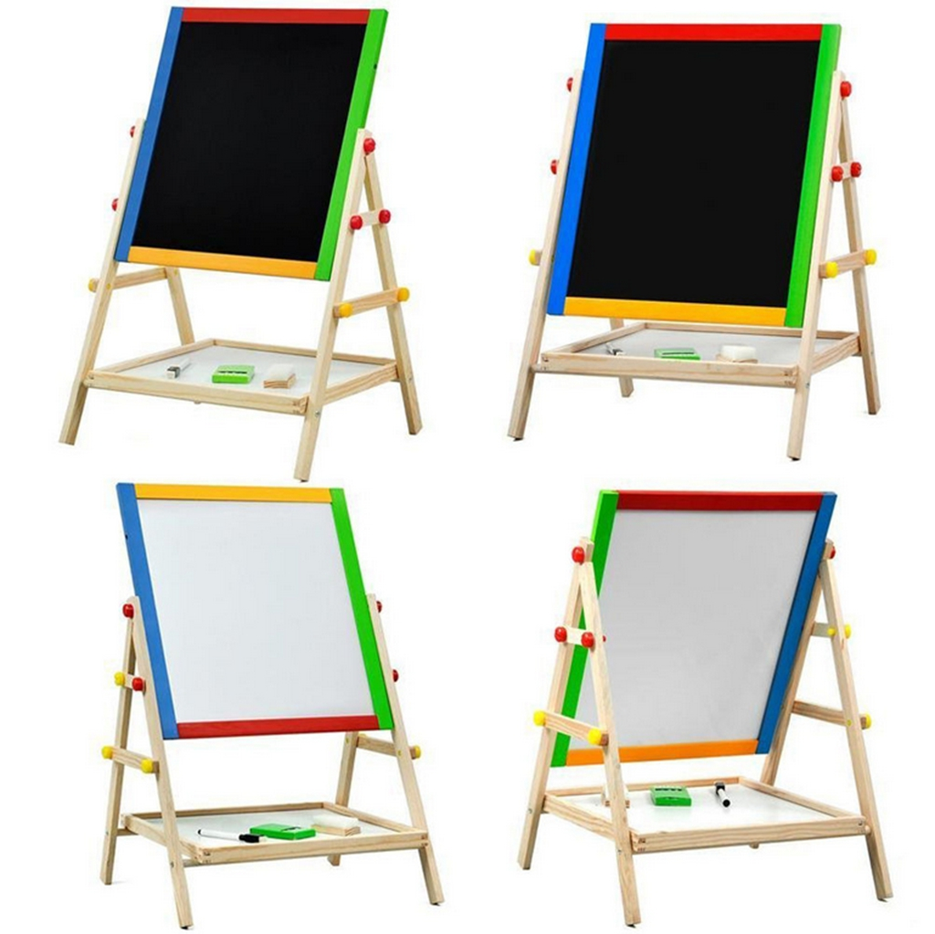 Wooden Easel Adjustable Standing 2 Sided Drawing Board W