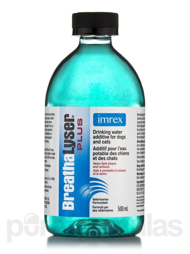 Breathalyser drinking water additive for dogs teeth for Dog dental water additive