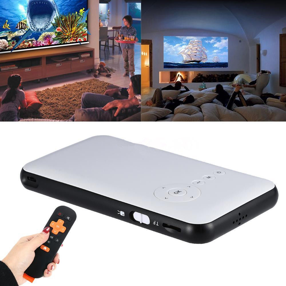 Led Lcd Projector X7 Home Cinema Theater Multimedia Led: Mini LED DLP WIFI Bluetooth Pocket Projector Home Cinema