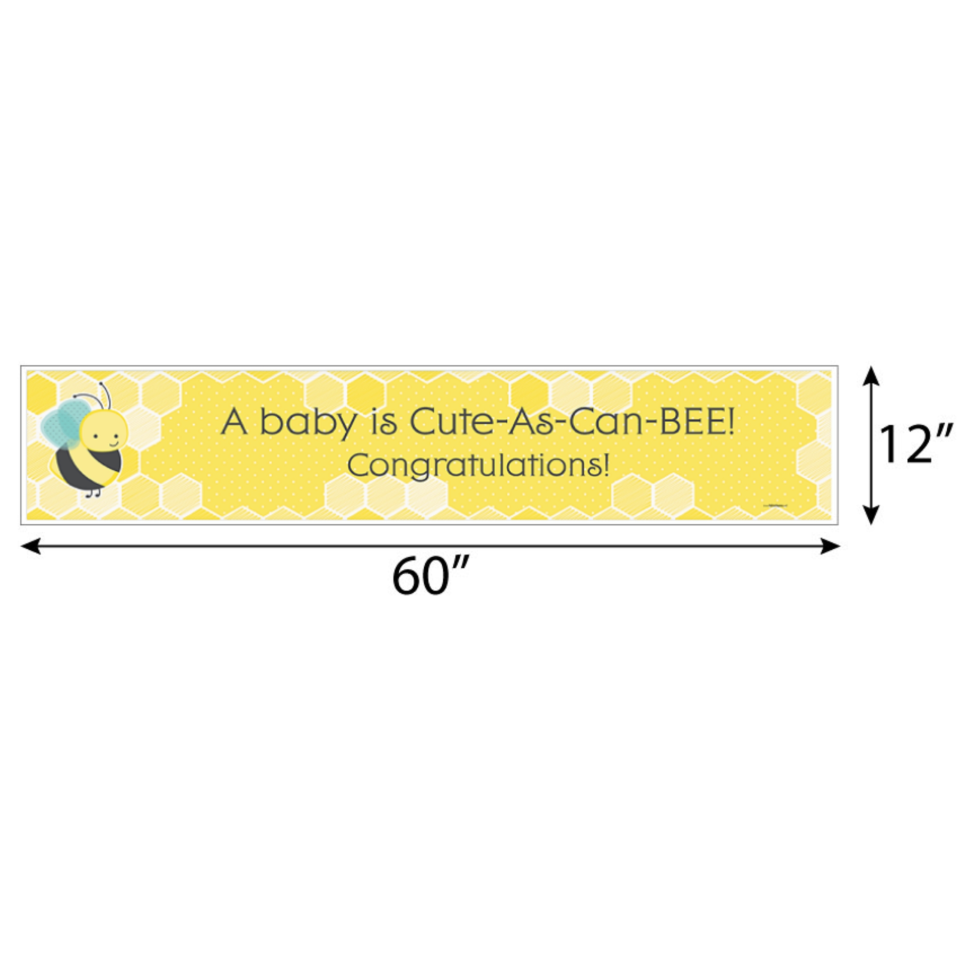 Honey Bee Baby Shower Decorations Party Banner