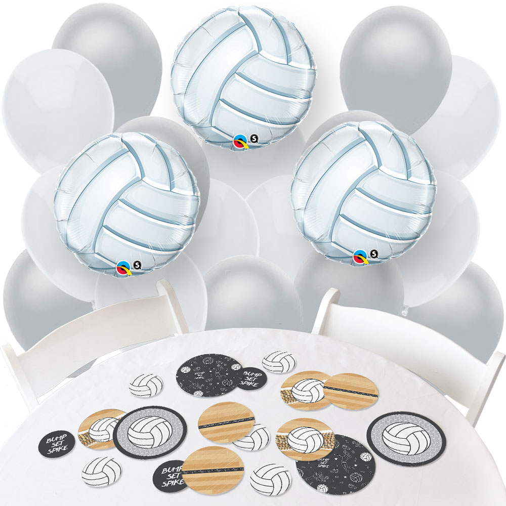 Volleyball Party Decorations Volleyball Confetti And Balloon Baby Shower Or Birthday Party