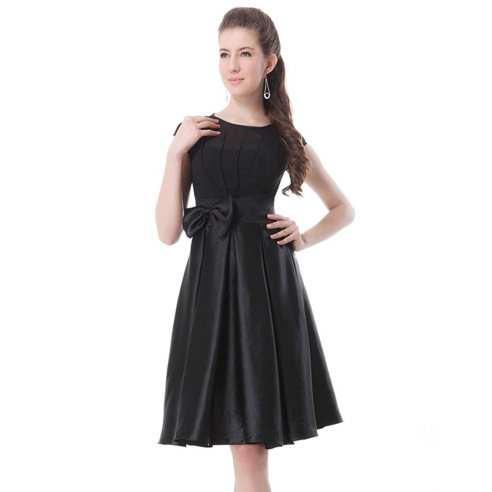 Sleeveless Bowknot Design Chiffon Dress