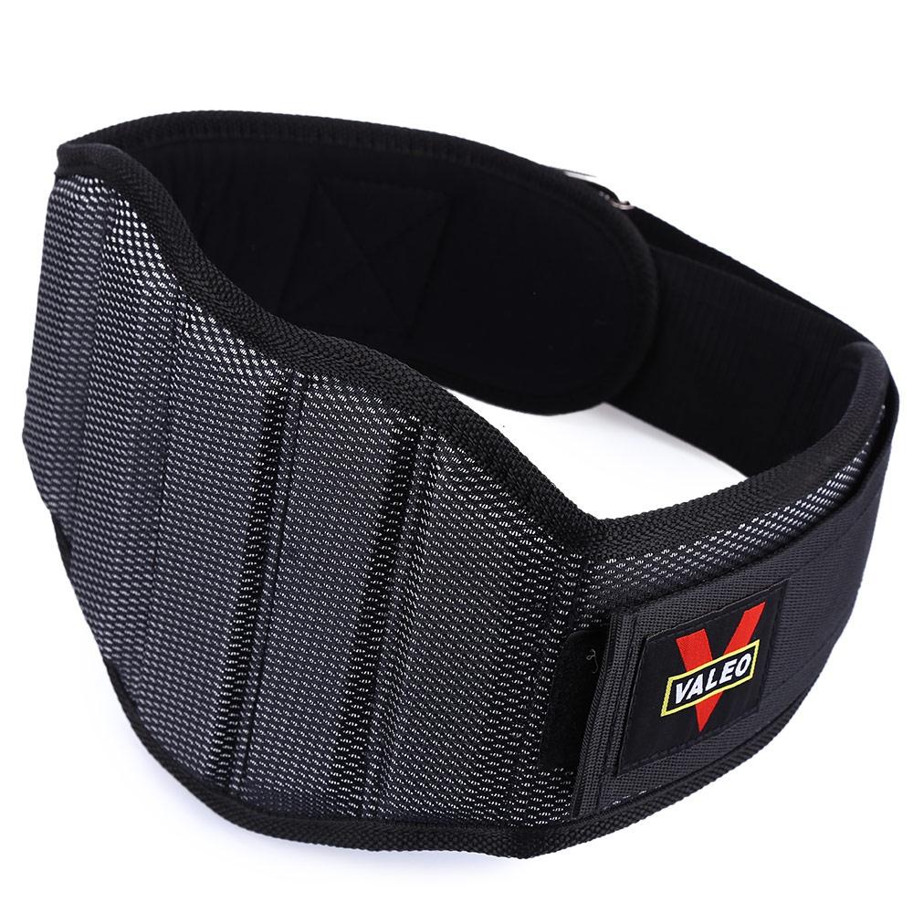 Fitness Lifting Belt: VALEO Sponge Nylon Weight Lifting Squat Belt Back Waist