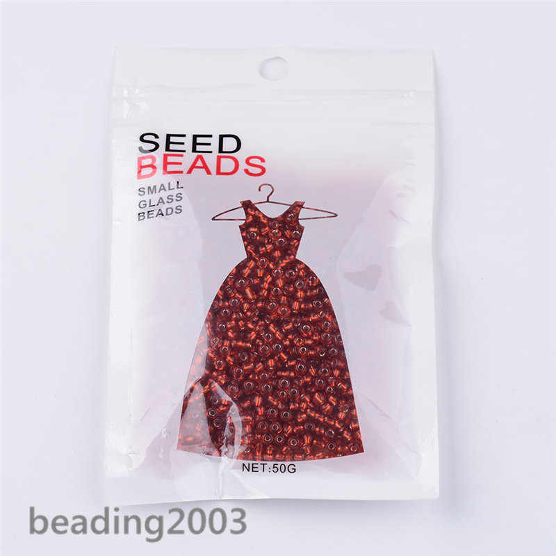 50g-3mm-8-0-Round-Glass-Silver-Lined-Seed-Beads-19-Colors-Jewellery-Craft-Making thumbnail 56