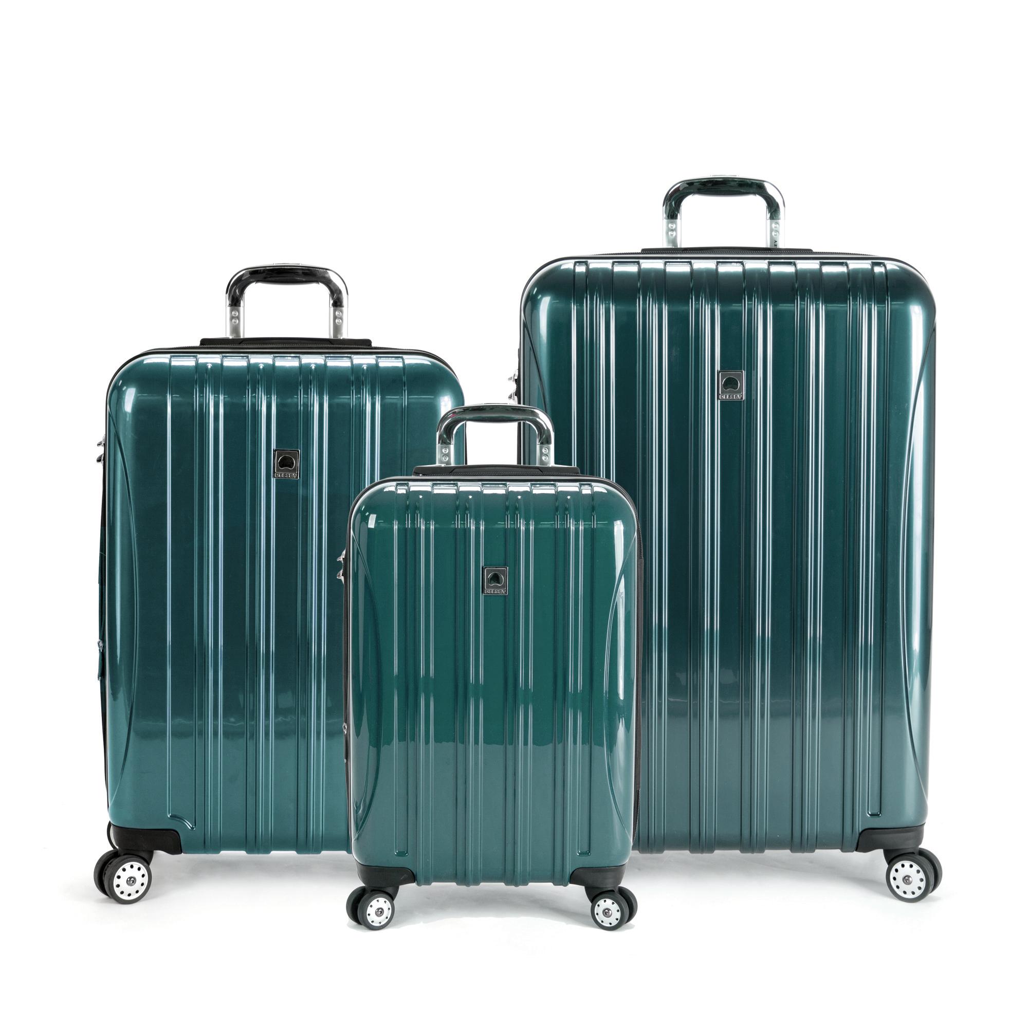 delsey luggage helium aero 3 piece spinner luggage set ebay. Black Bedroom Furniture Sets. Home Design Ideas