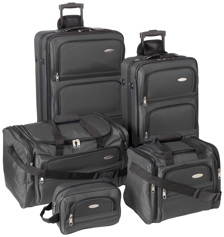 samsonite 5 piece nested luggage set ebay. Black Bedroom Furniture Sets. Home Design Ideas