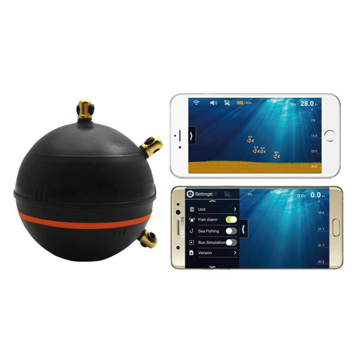 New wifi depth smart fish finder compatible with ios for Phone fish finder