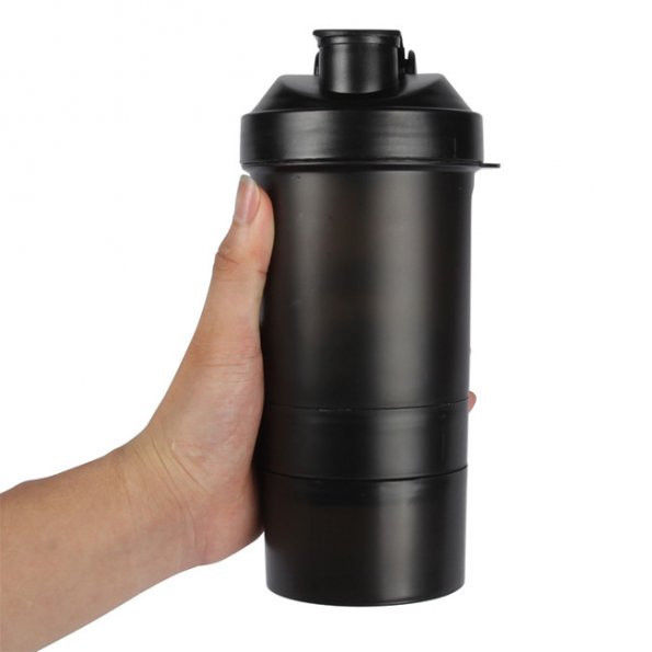 Protein Shaker Net: FiTurbo *3 In 1* Gym Protein Shaker Bottle Mixer Mixing